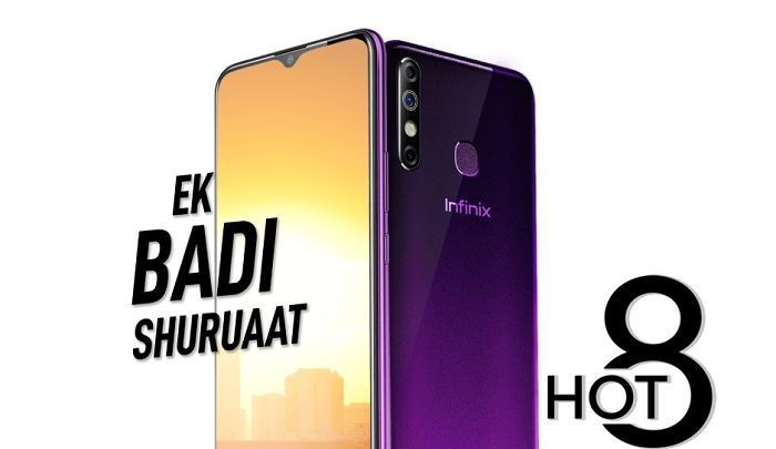 Infinix Hot 8 cheap smartphone india with 4GB RAM'