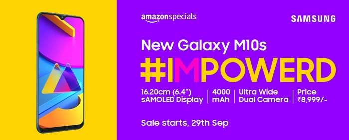 Samsung Galaxy M10s full phone spec and price in India