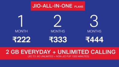 Reliance Jio New Prepaid Plans All in One plan jio