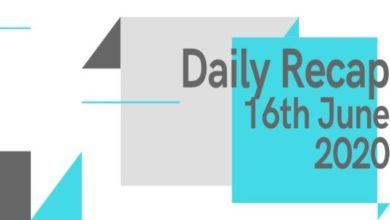 Daily recap 16th June 2020 new phones recharge plans