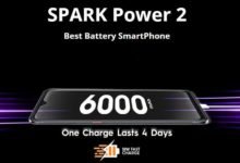 Tecno Spark Power 2 Phone 6000mAh battery