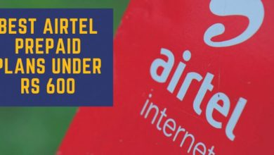 BEST AIRTEL PREPAID PLANS UNDER RS 600
