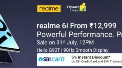 Realme 6i First Sale in India