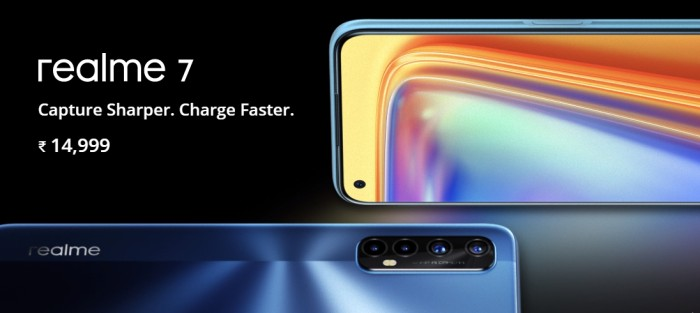 Realme 7 Sale date in India Flipkart Price specifications