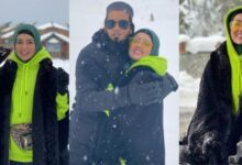 Sana Khan Enjoys Snow in Gulmarg With Her Hubby See Pictures